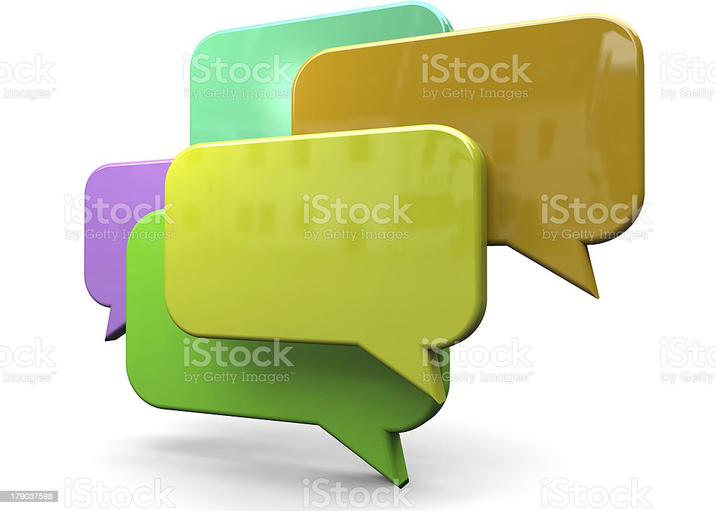 SOCIAL NETWORK AND CHAT - 3D royalty-free stock photo