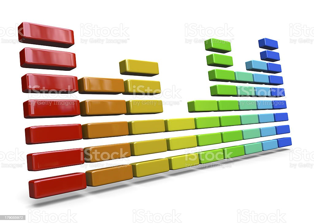EQUALIZER - 3D royalty-free stock photo
