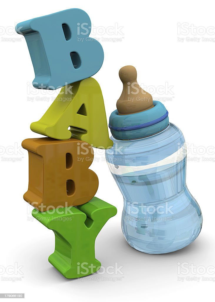 BABY BOOTLES - 3D royalty-free stock photo