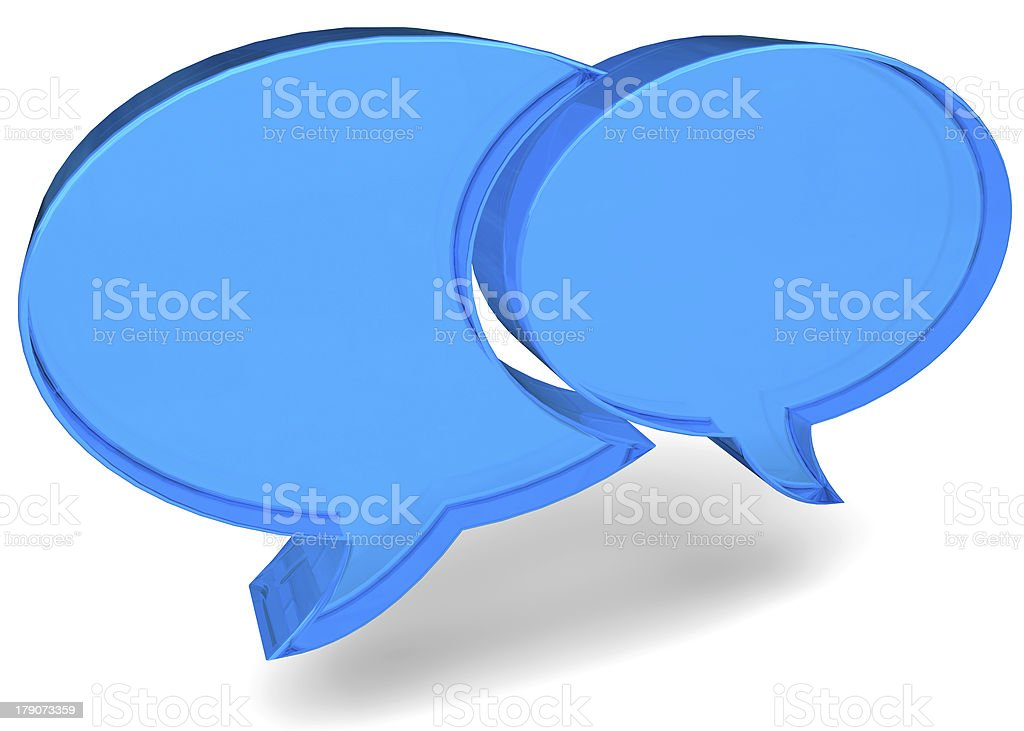 CHAT - 3D royalty-free stock photo