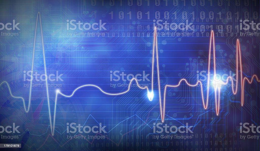 , EEG royalty-free stock photo
