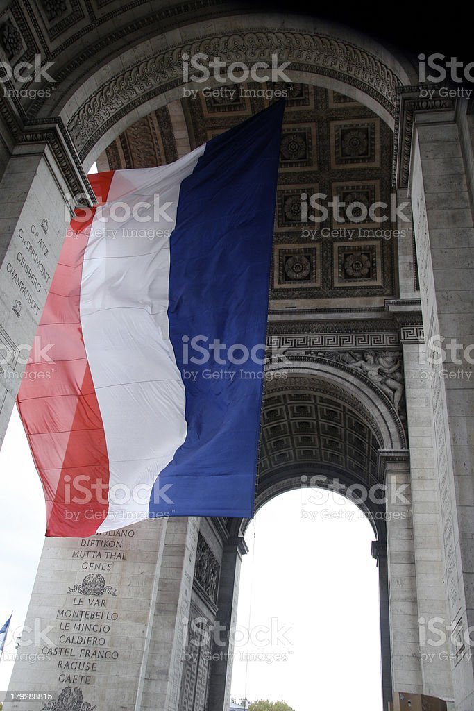 ARCO Y BANDERA stock photo
