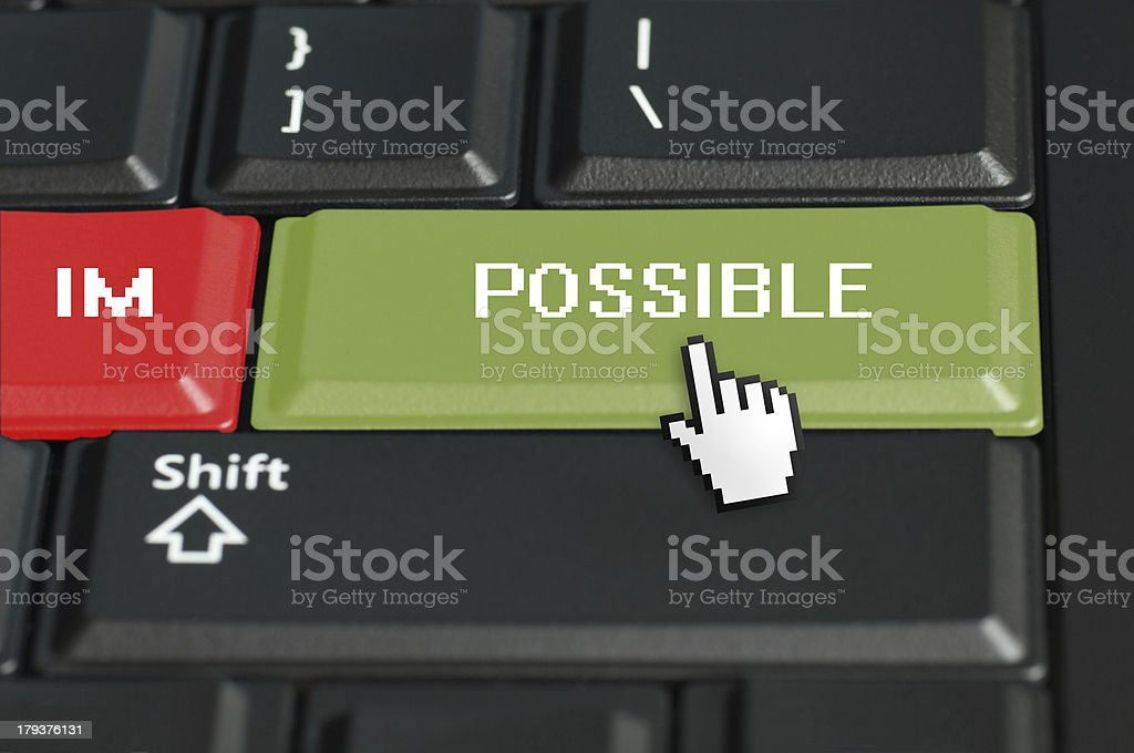 IMPOSSIBLE CONCEPT stock photo