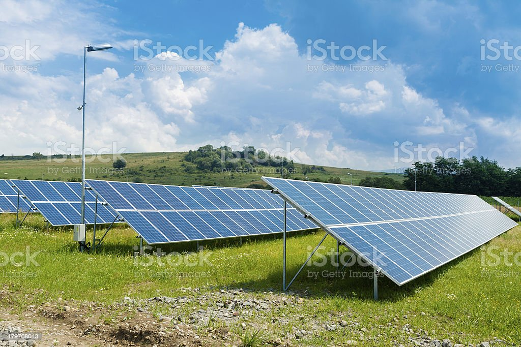 RENEWABLE SOLAR ENERGY royalty-free stock photo