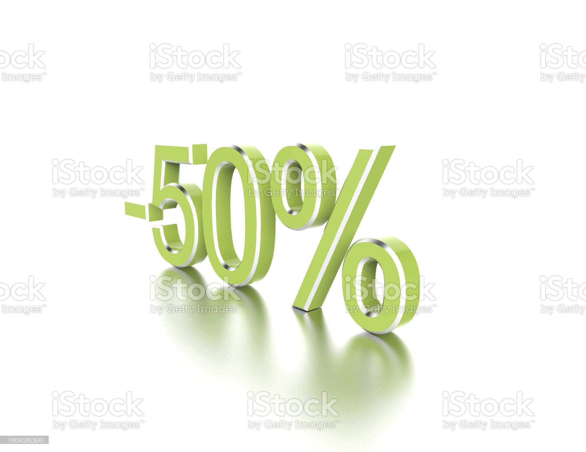 -50% royalty-free stock photo