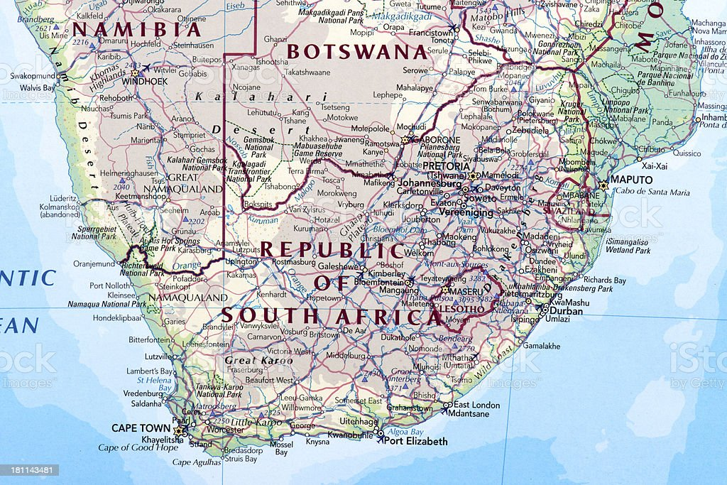 REPUBLIC OF SOUTH AFRICA stock photo