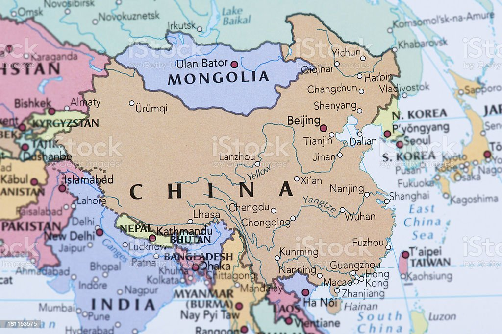 CHINA - MONGOLIA stock photo