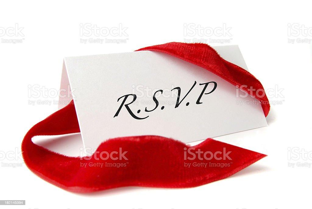 R.S.V.P royalty-free stock photo
