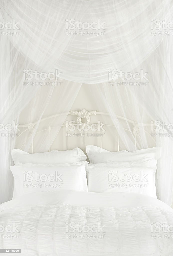 ROMANTIC BED stock photo