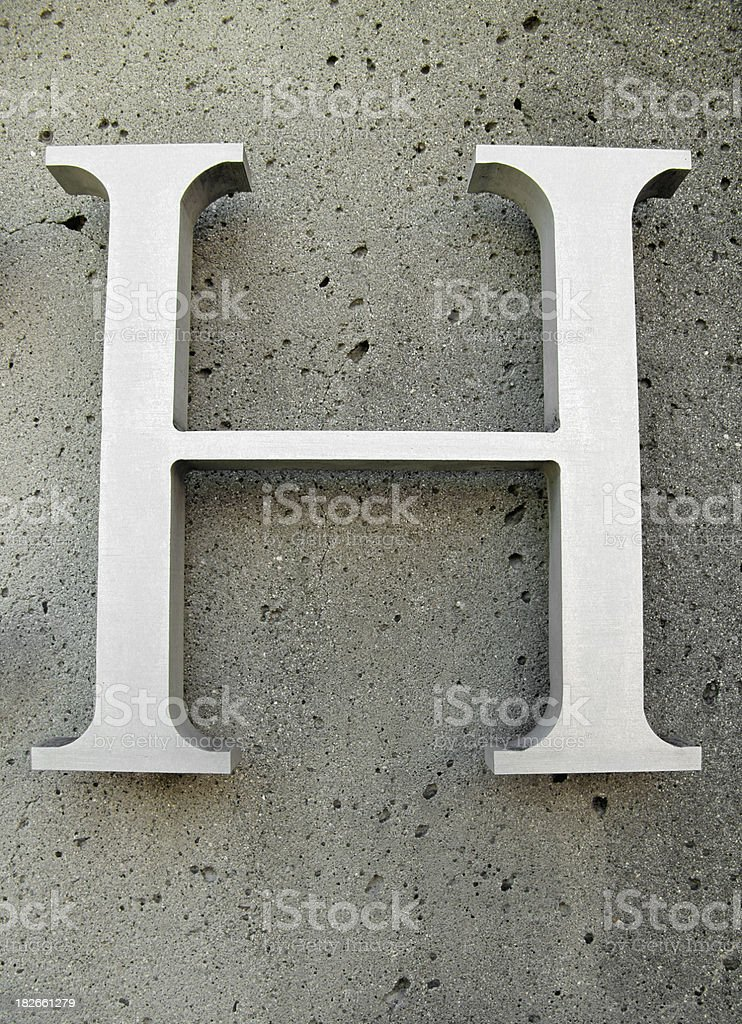 H royalty-free stock photo