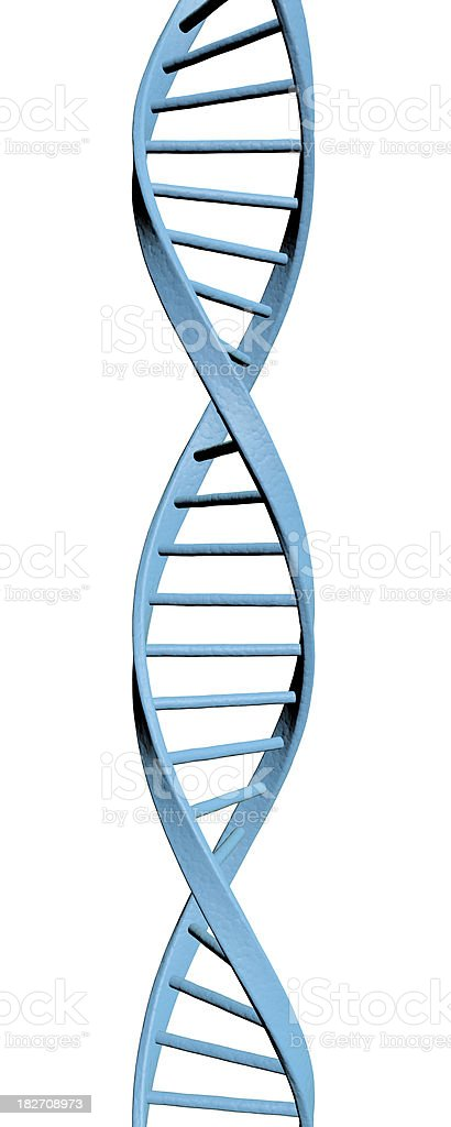 3D DNA royalty-free stock photo
