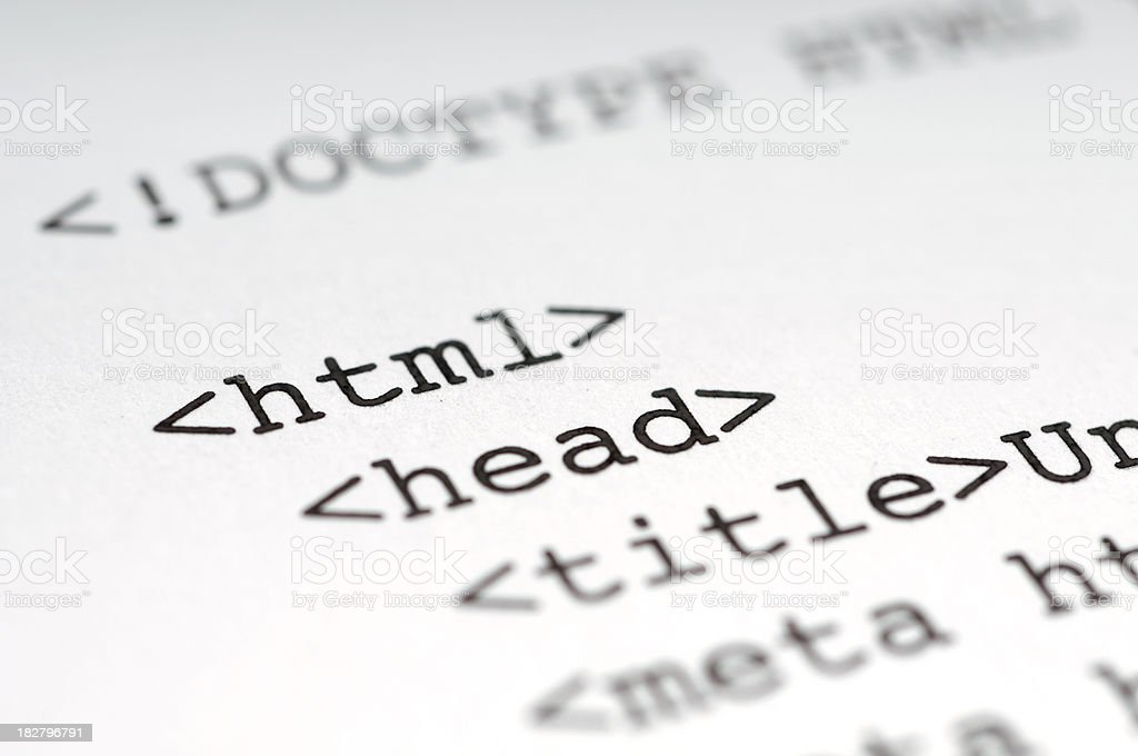 HTML royalty-free stock photo