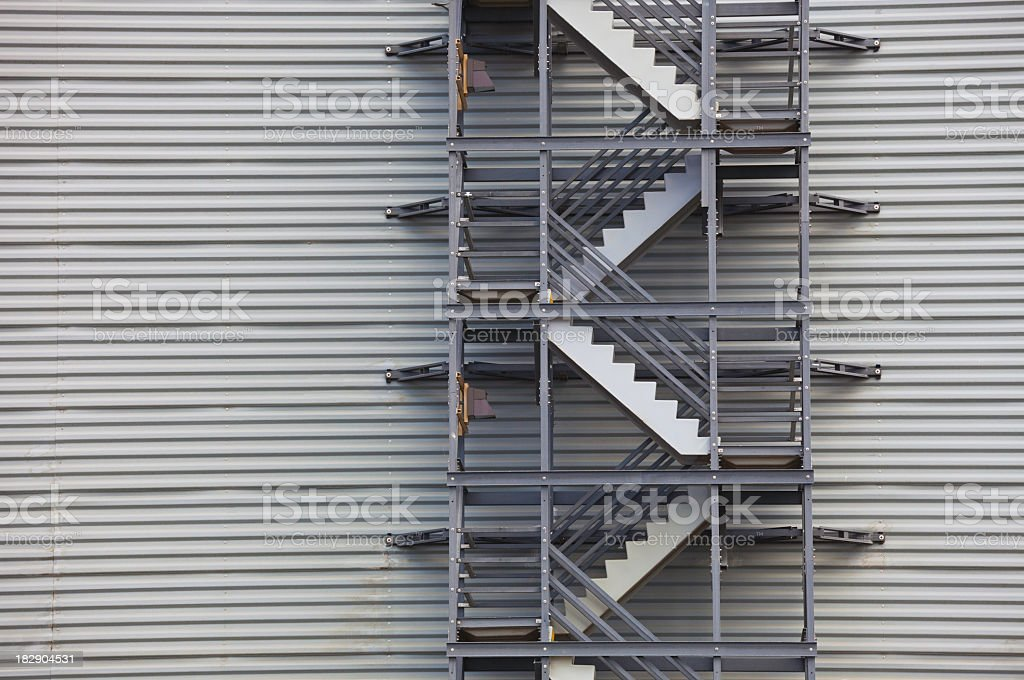 EXTERIOR INDUSTRIAL STAIRS stock photo