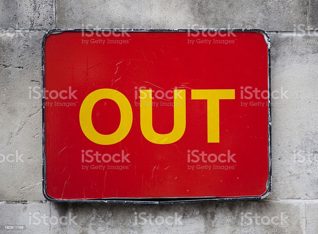 OUT royalty-free stock photo