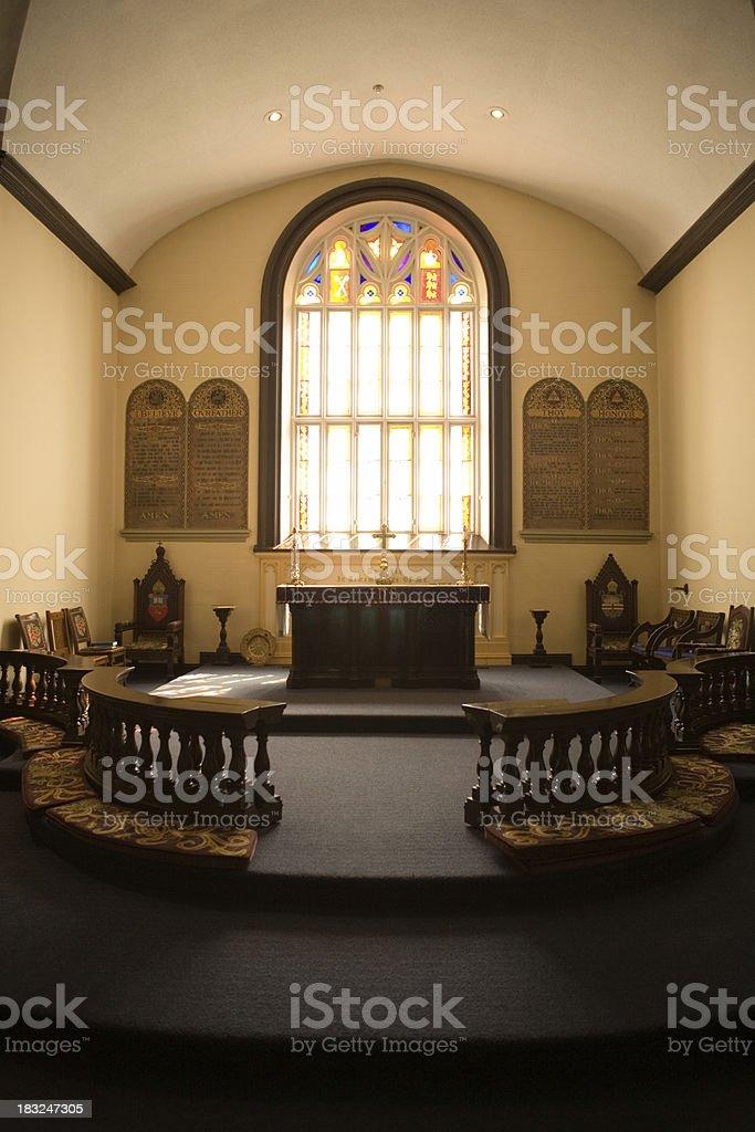 CHURCH ALTAR royalty-free stock photo