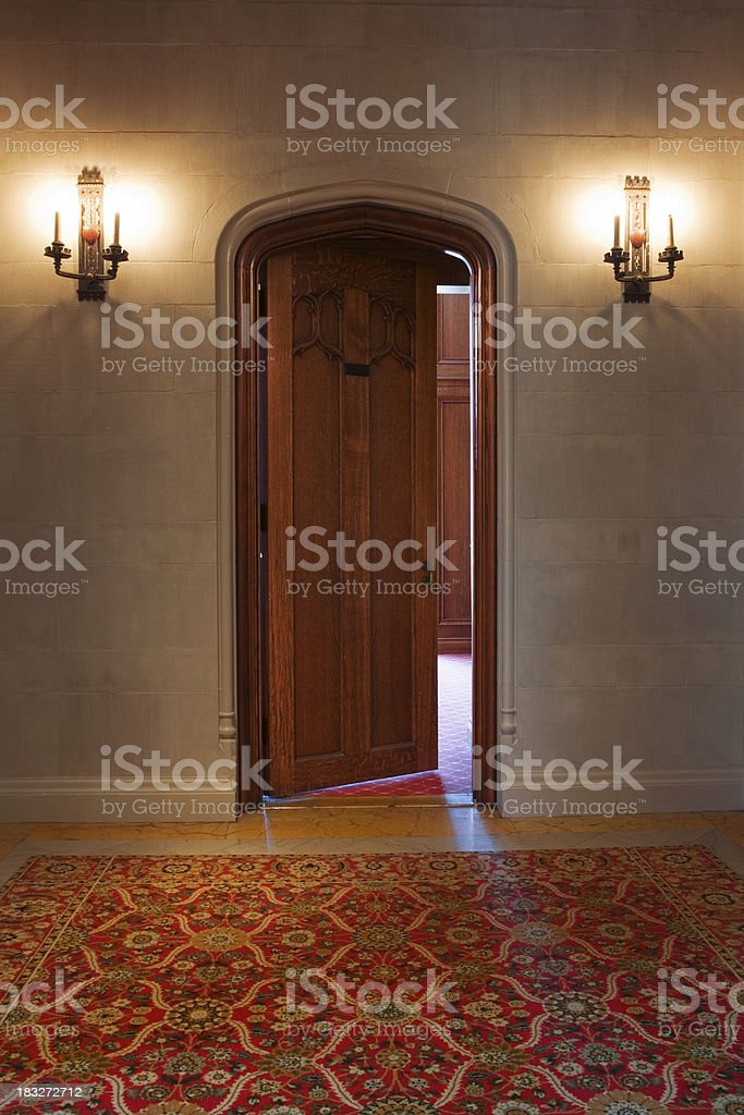 FANCY GOTHIC DOOR stock photo