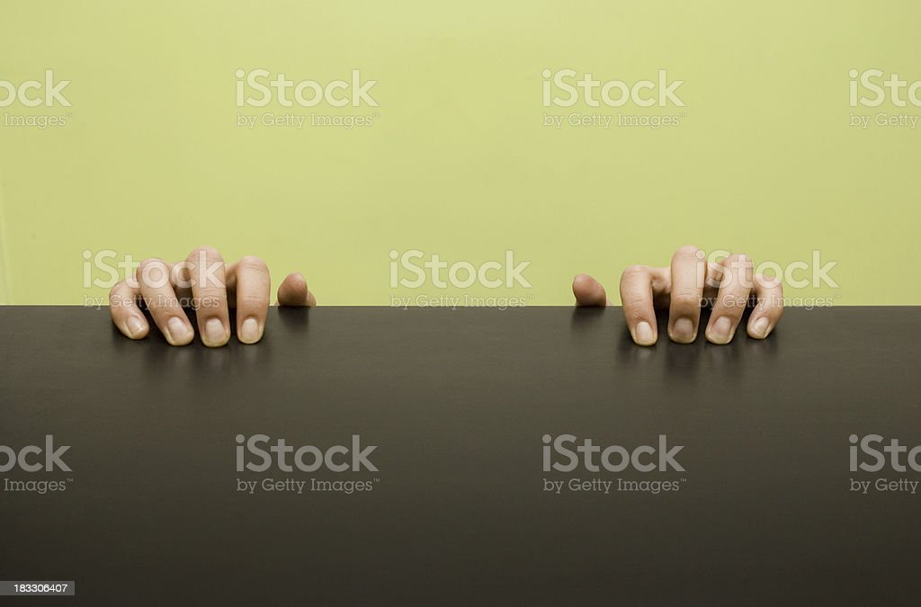 HOLDING_ON royalty-free stock photo