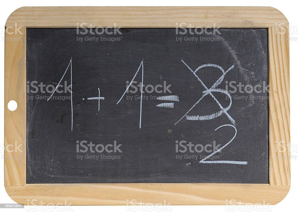 1+1=3 stock photo