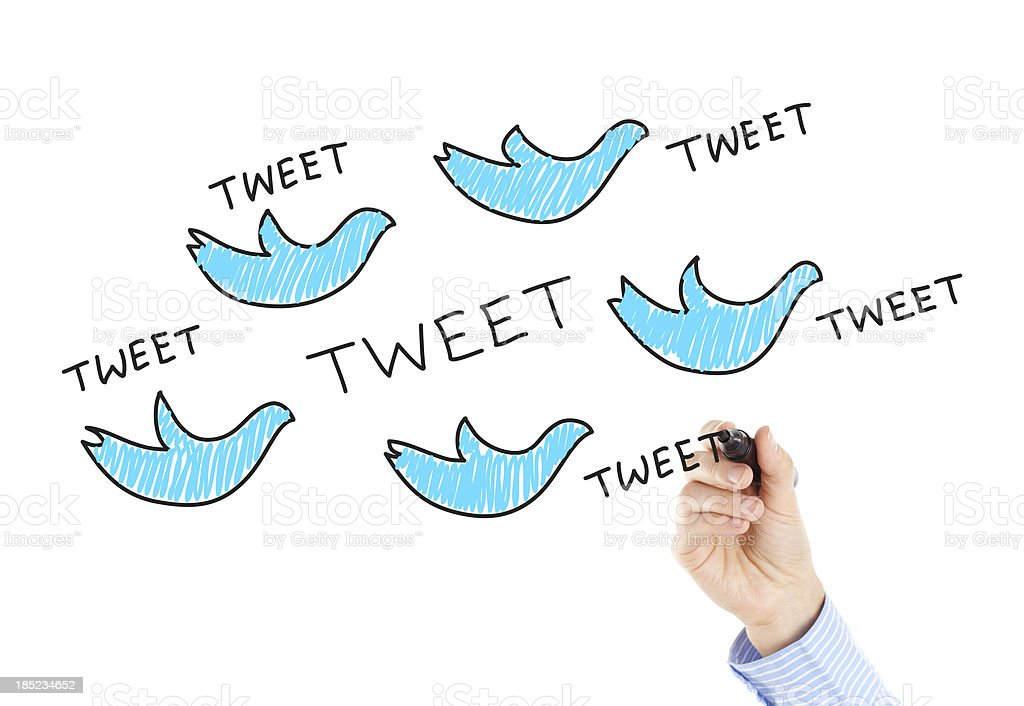 TWEET stock photo