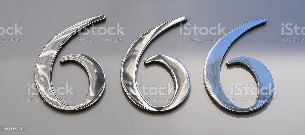 666 stock photo