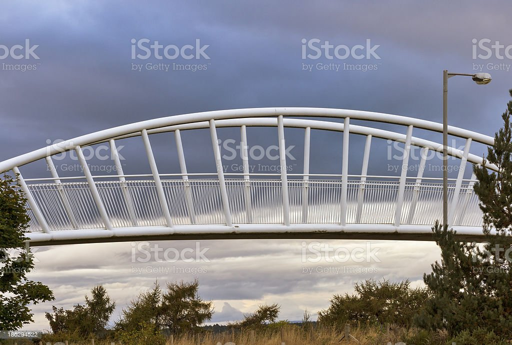 STORMY BRIDGE FORRES royalty-free stock photo