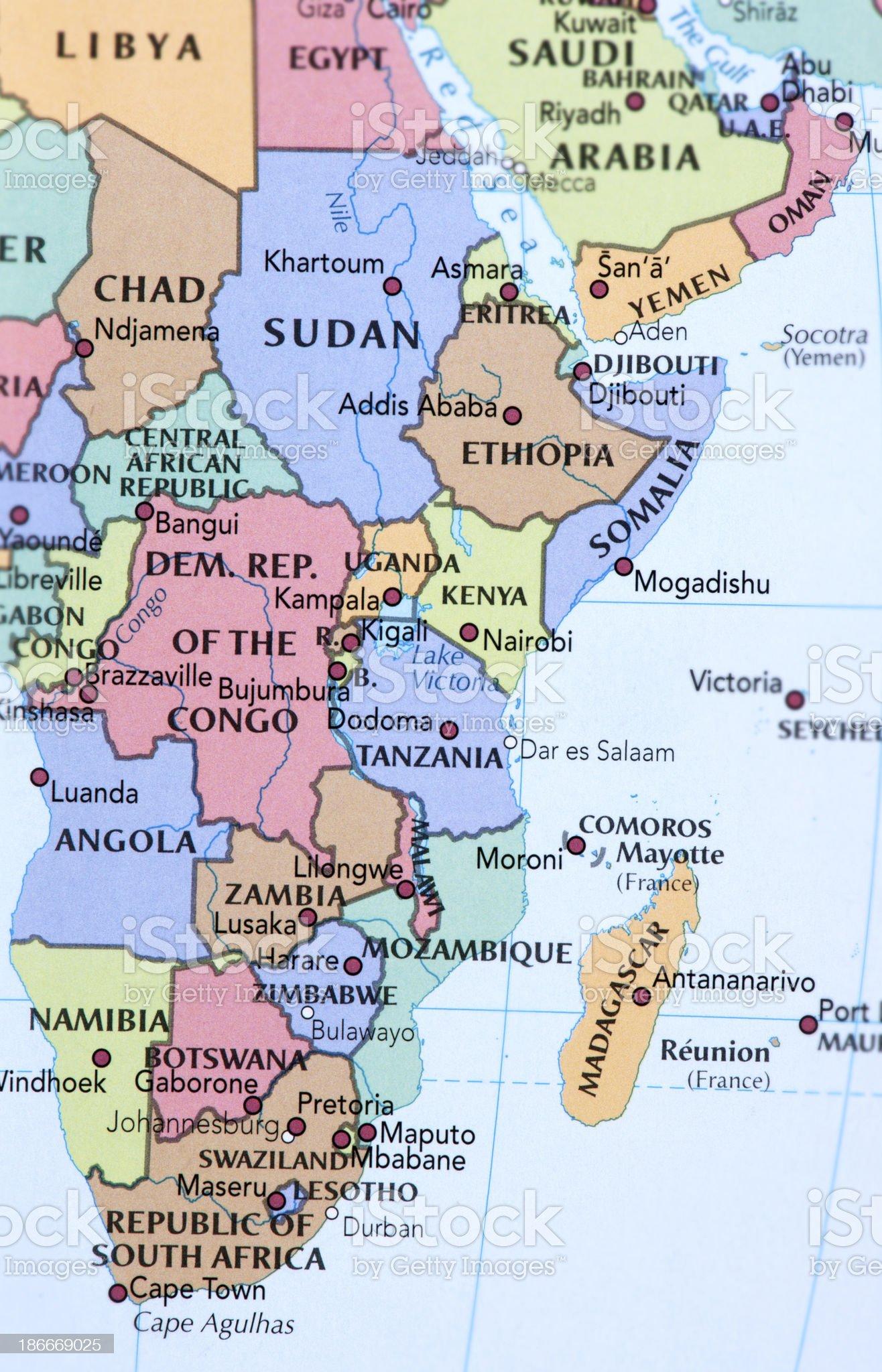 CENTRAL AFRICA royalty-free stock photo
