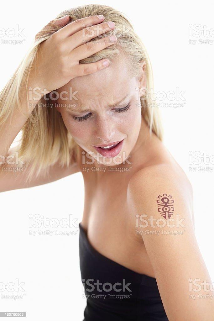 That's not the tattoo I wanted stock photo