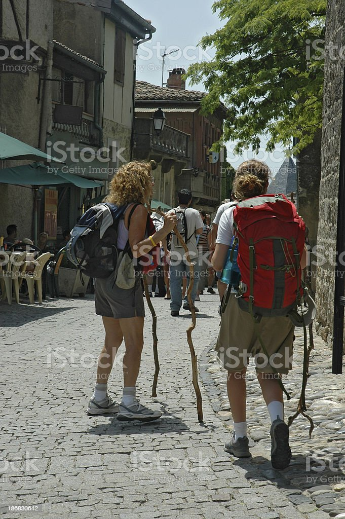 EL CAMINO SANTIAGO stock photo