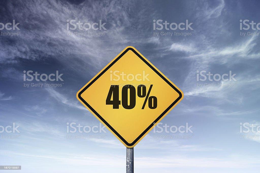 40% royalty-free stock photo