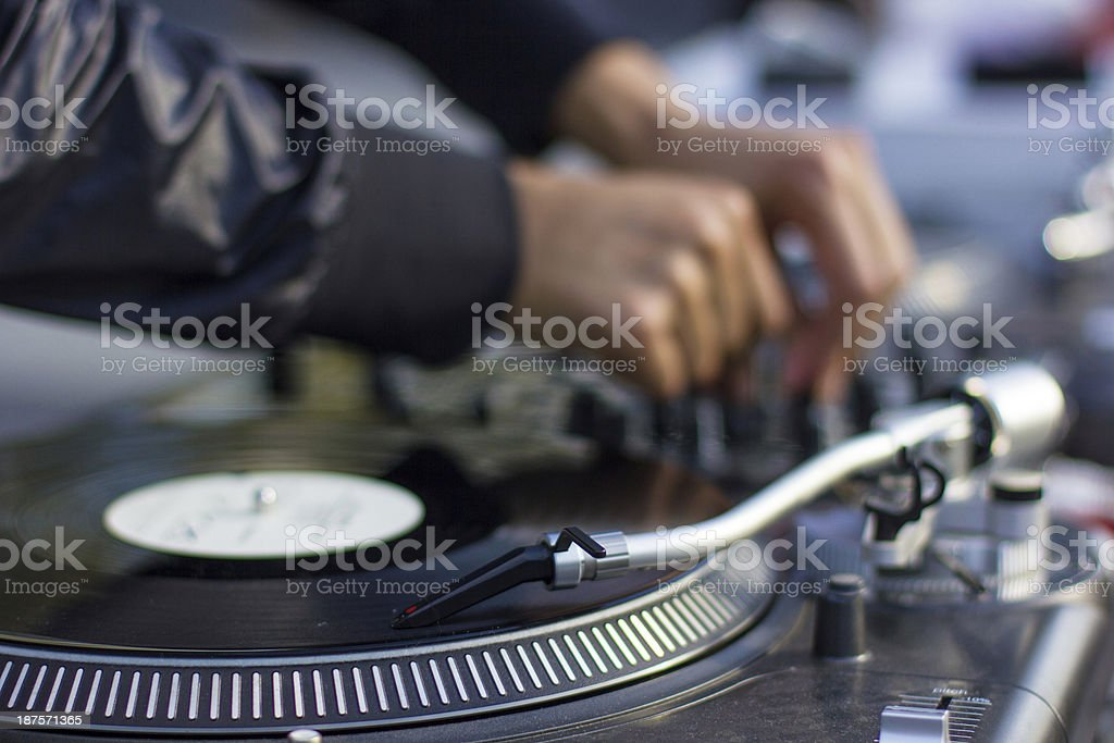 DJ royalty-free stock photo