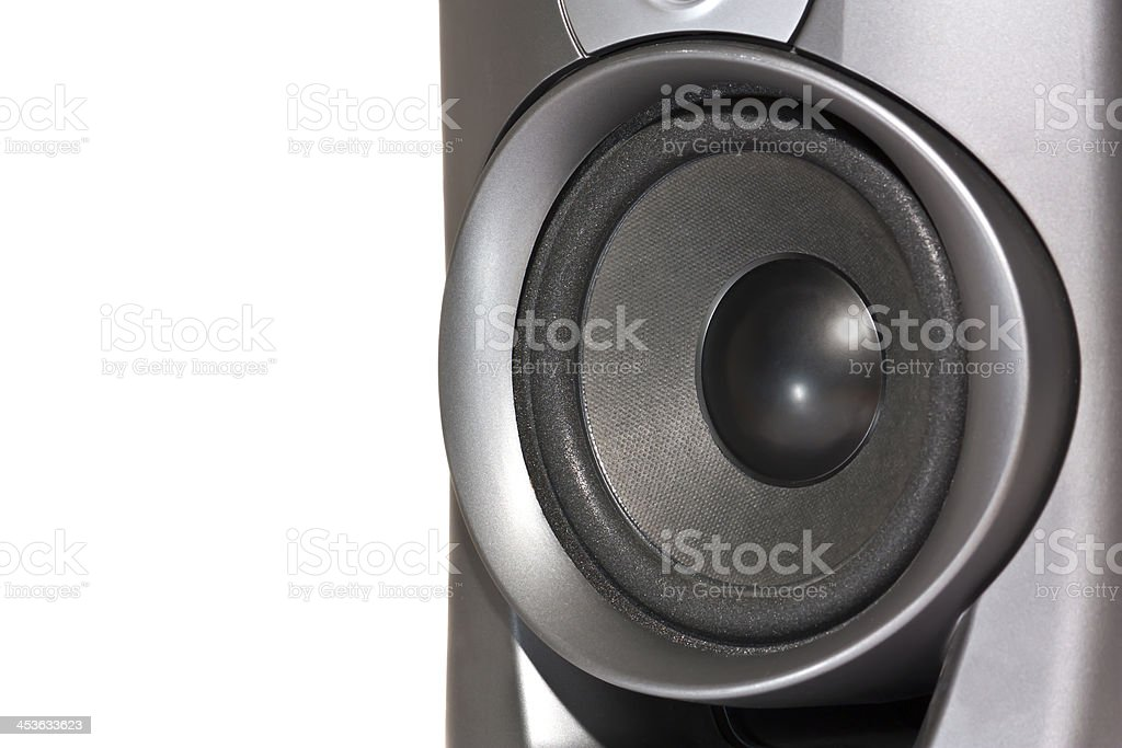 speakers, cut out on white background royalty-free stock photo