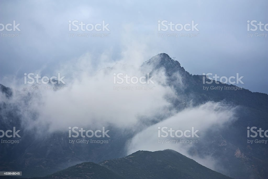 cloud and mountain, outdoor photo beauty in nature royalty-free stock photo