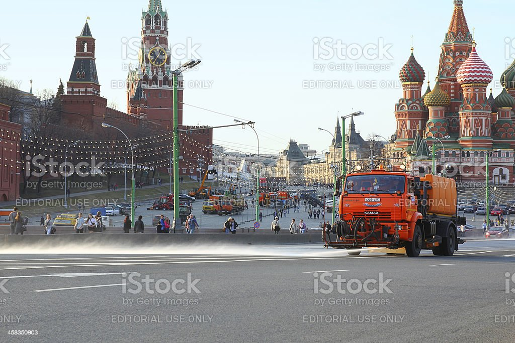 MOSCOW - APRIL 19 royalty-free stock photo