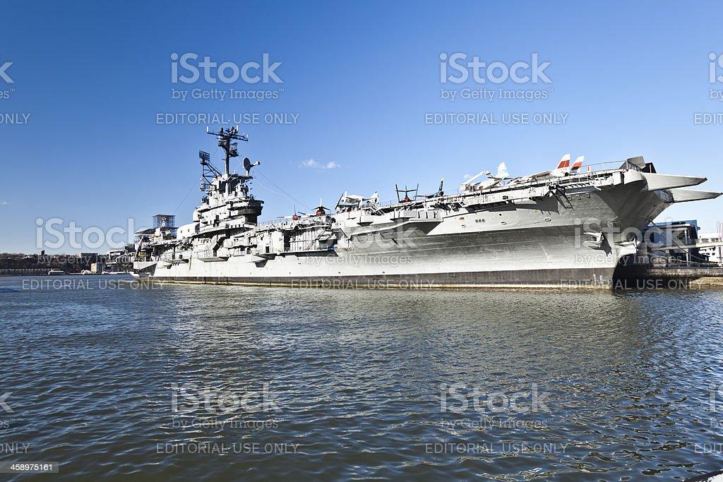 U.S.S. INTREPID royalty-free stock photo