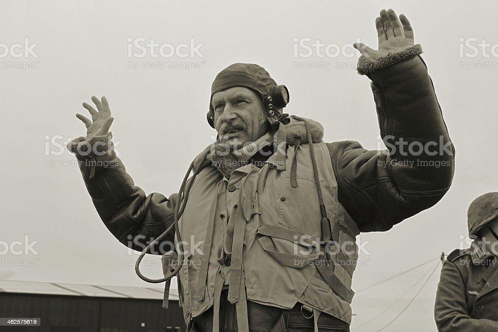 RAF P.O.W. stock photo