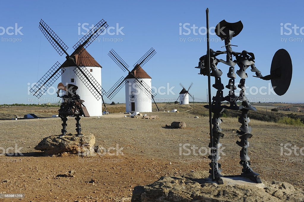WINDMÜHLEN IN LA MANCHA - SPANIEN stock photo