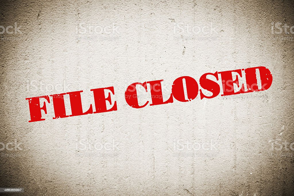 FILE CLOSED stock photo
