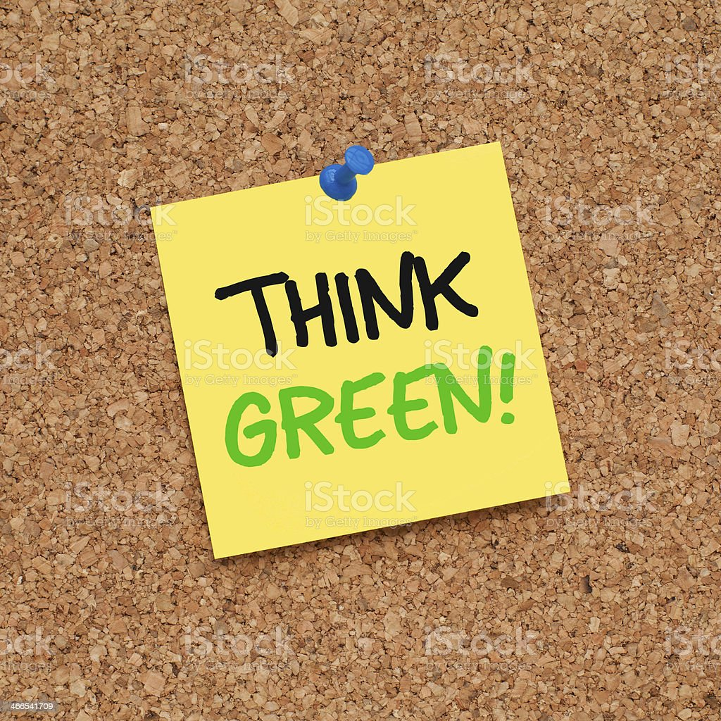 THINK GREEN! stock photo