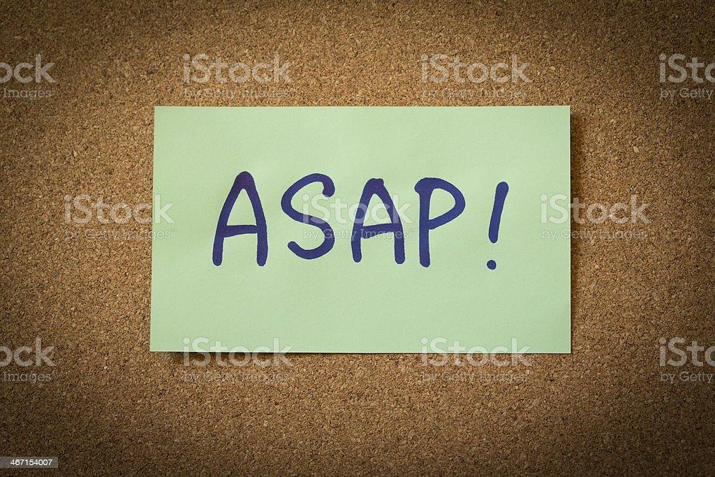 ASAP stock photo