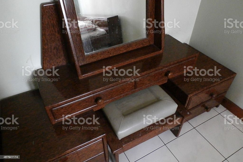 COCONUT DRESSING TABLE stock photo