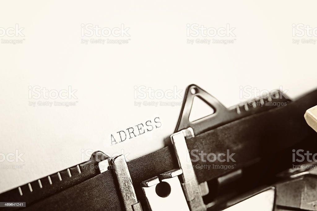 ADRESS stock photo