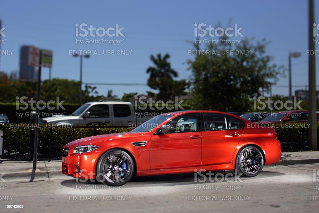 2015 BMW M5 stock photo