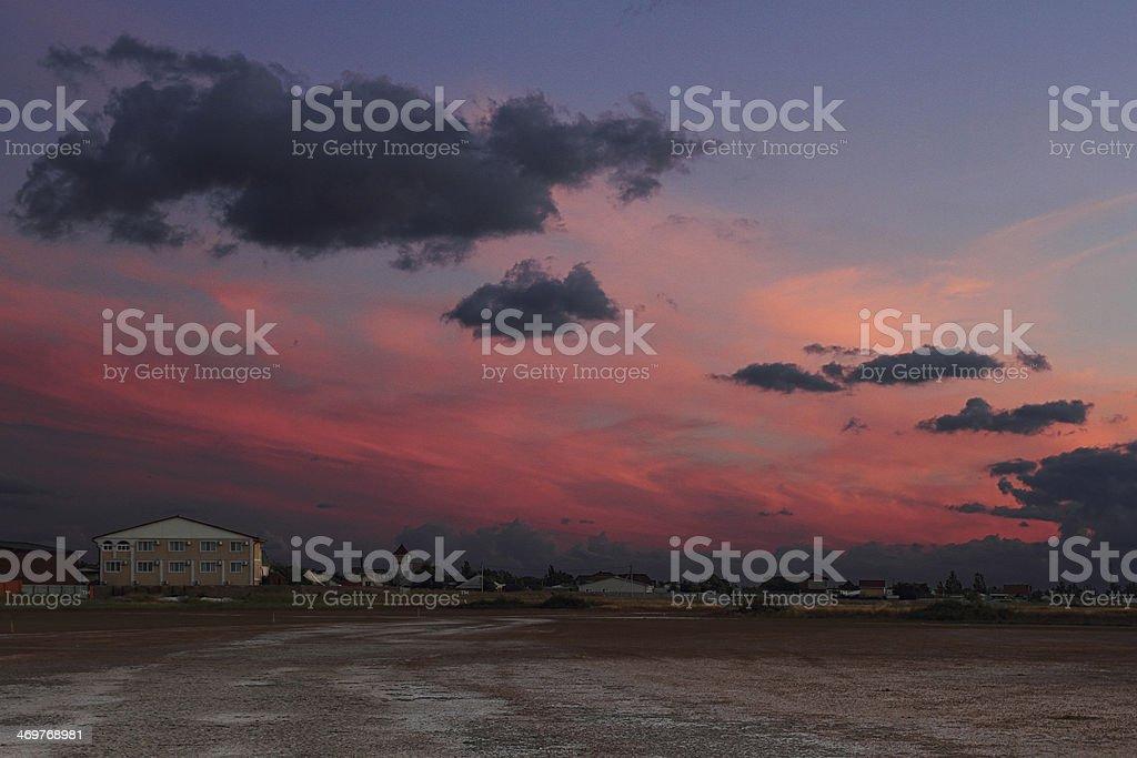 Закат над лиманом. photo libre de droits