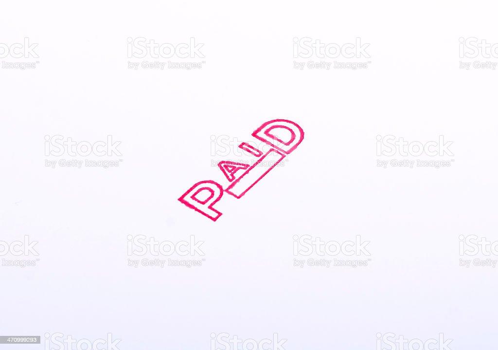 PAID stock photo