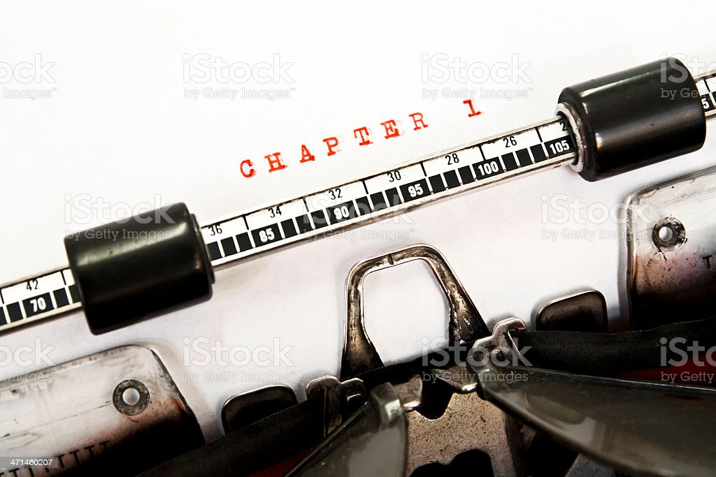 CHAPTER 1 royalty-free stock photo