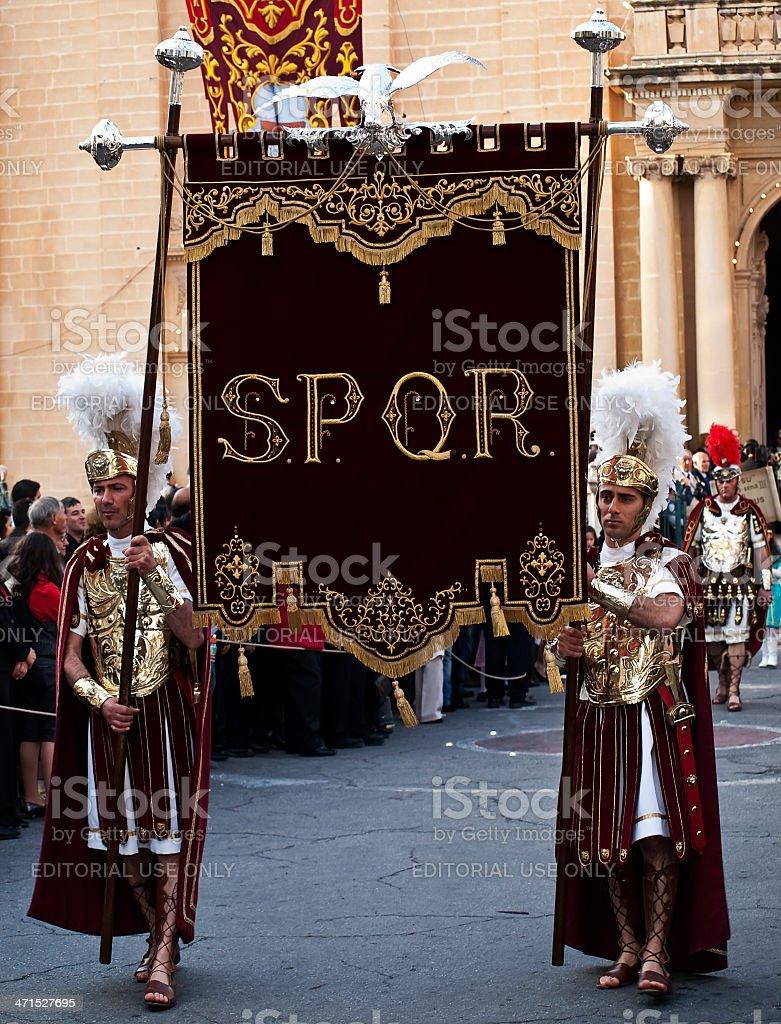 SPQR stock photo