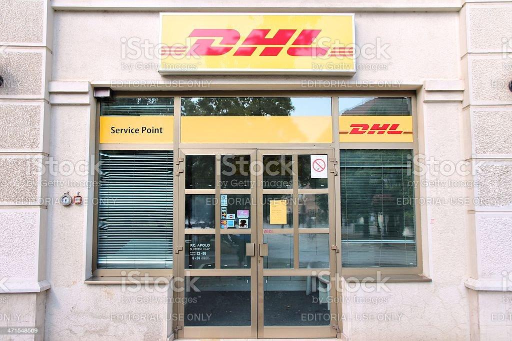 DHL stock photo