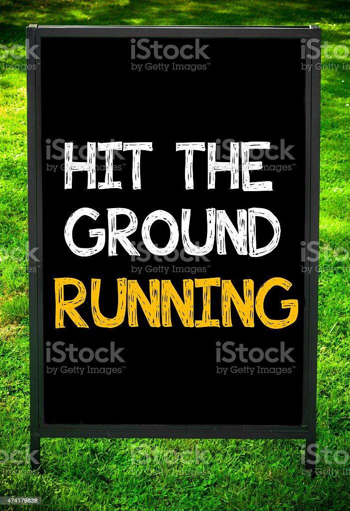 HIT THE GROUND RUNNING stock photo