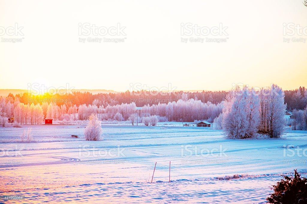 SUN N SNOW stock photo