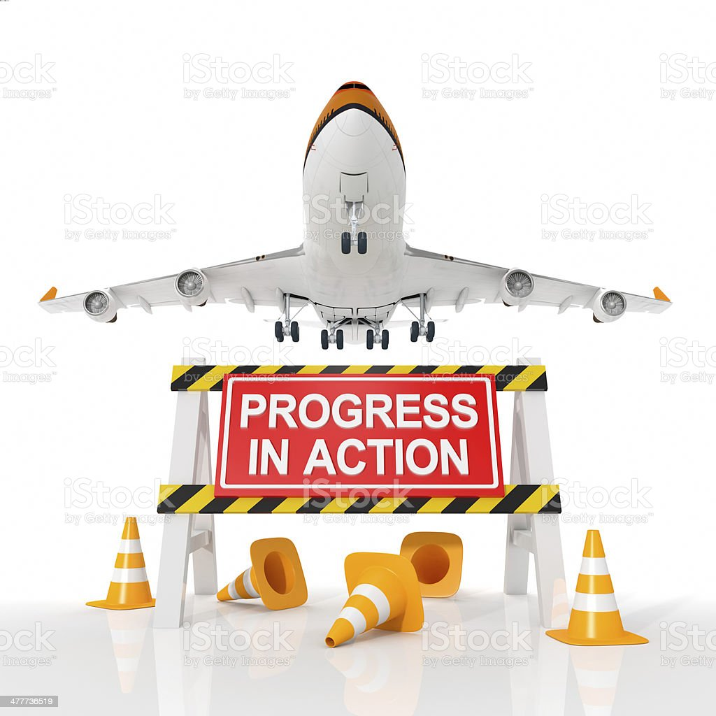 PROGRESS IN ACTION royalty-free stock photo